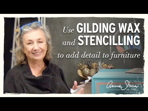 Using Annie Sloan Gilding Wax to add detail