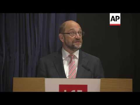 Schulz reaffirms EU stance on Brexit negotiation