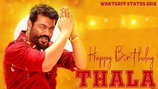 Happy Birthday Thala ¦ Thala Birthday Whatsapp Status 2020 New ¦ Ajith Kumar ¦ Birthday Special
