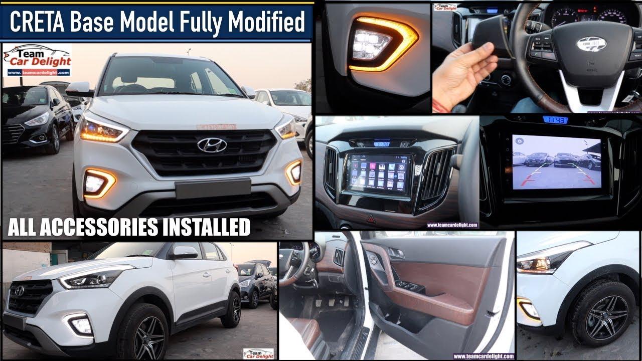 Hyundai Creta Base Model Full Modified with All Accessories List  Creta All Accessories - YouTube