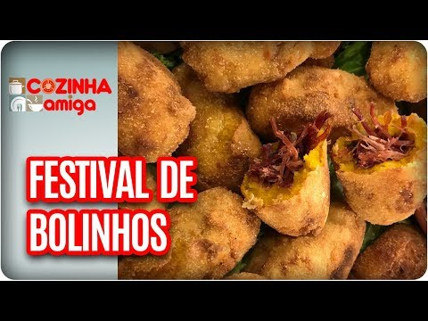 Bolinho Com Carne Seca E Milho Com Frango - Gabriel Barone   Cozinha Amiga (13/02/18)