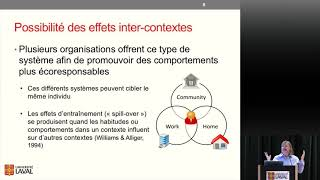 Le changement de comportements et les systèmes d'information persuasifs