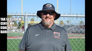 Cen10 WR Coach Tony Barile