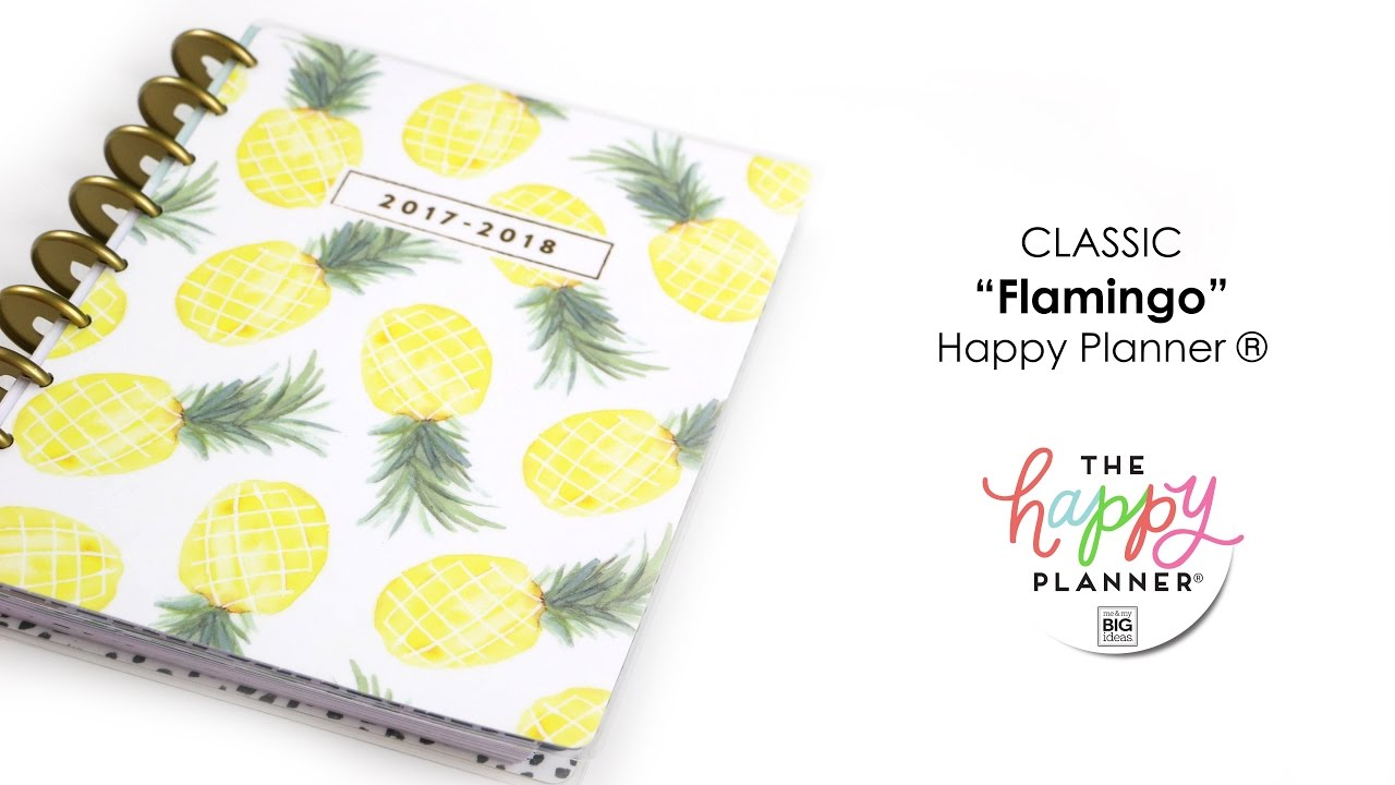 Flamingo happy planner preview classic youtube for For planner