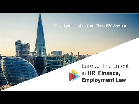 Europe: The Latest in HR, Finance and Employment Law