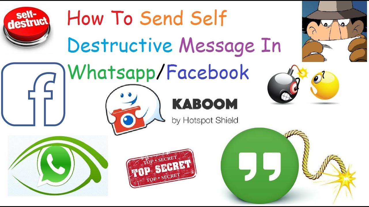 Send Self Destructing Text Message on WhatsApp iPhone/Android
