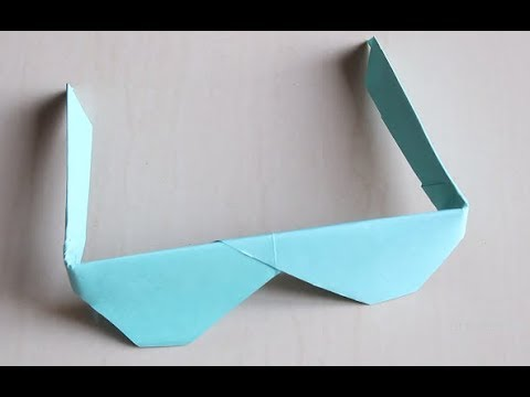 DIY - Origami Sunglasses || How to make Traditional Origami Sunglasses || Paper sunglass