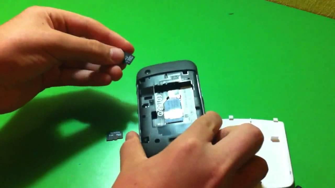 error en tarjeta de memoria blackberry