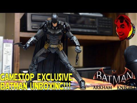 BATMAN ARKHAM KNIGHT- Gamestop Exclusive Batman Action Figure! {UNBOXING}