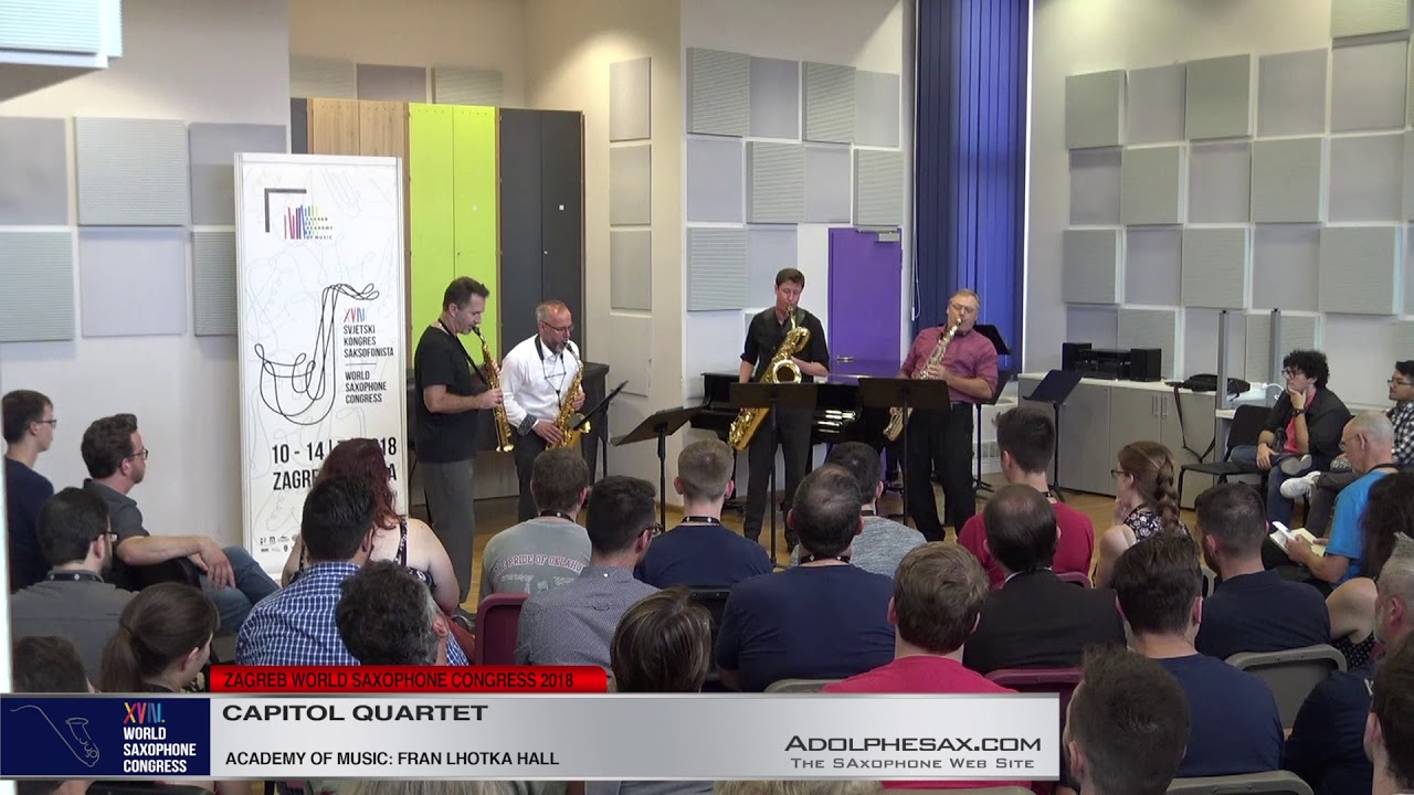 Anaphora by David Biendenbender   Capitol Quartet   XVIII World Sax Congress 2018 #adolphesax