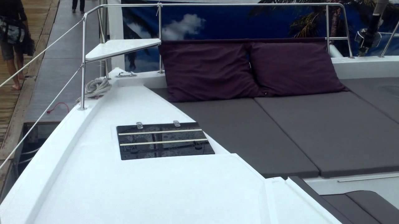 Quick Tour of FP Lucia 40 catamaran and Bali 4.5 catamaran ...
