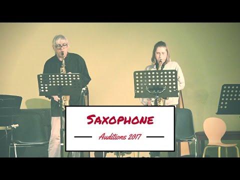 Saxophone (Aloïse) ► Auditions 2017