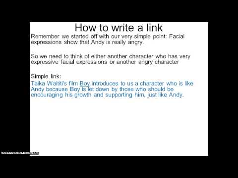 How to: write a link