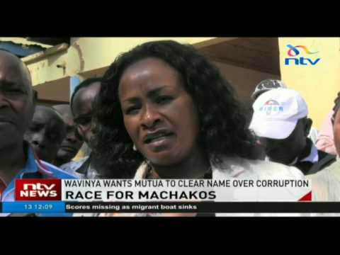 Wavinya Ndeti wants Alfred Mutua to clear his name from corruption cases before the August polls