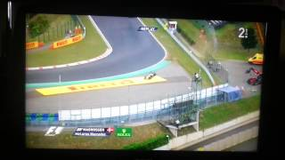F1 2014 Hungaroring Magnussen Q3 crash