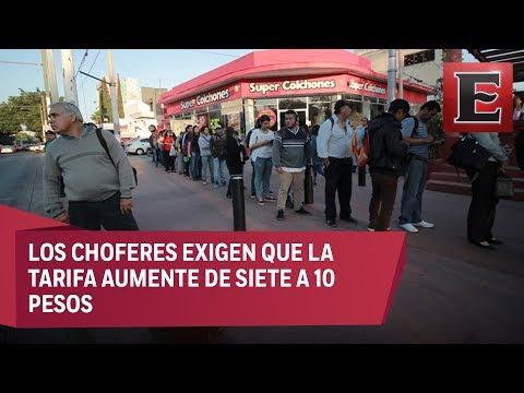 Paro en el transporte público de Jalisco afecta a miles de usuarios - 동영상