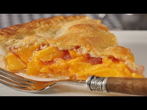 Peach Pie Recipe Demonstration - Joyofbaking.com