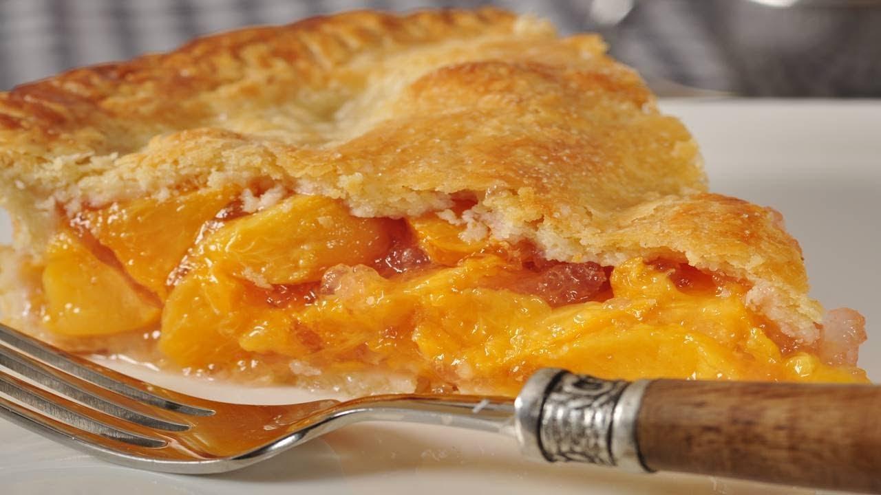 Peach Pie Recipe Demonstration Joyofbaking Com Youtube