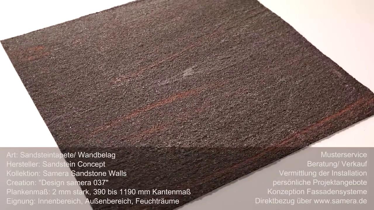 Flexibler Sandstein Fliesen Bahnen Design 037 Sandsteintapete Youtube
