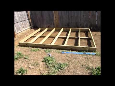 Off Grid Prepper Storage Shed Workshop Construction Part 1