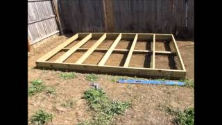 Off Grid Prepper Storage Shed/workshop Construction Part 1 - Foundation