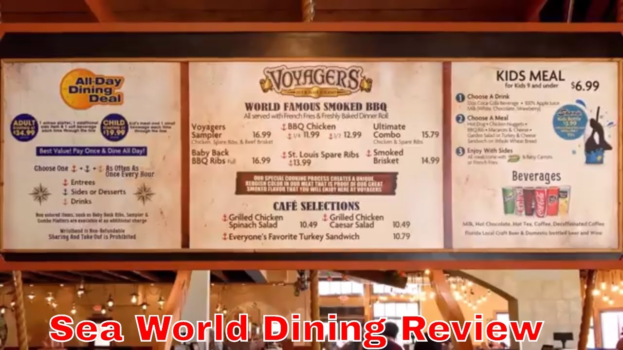 Sea World Food Review Voyager Smokehouse Bbq Vlog