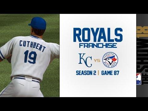 MLB The Show 18: Royals Franchise vs. Blue Jays [G87, S2]