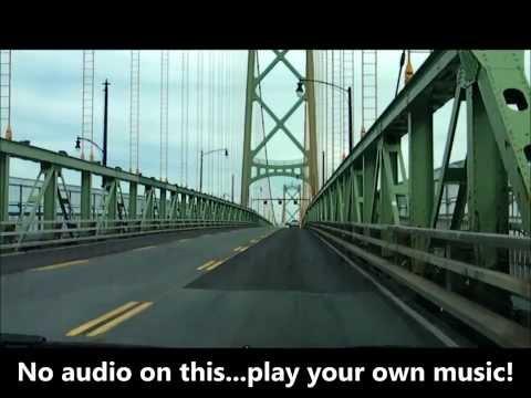 Driving around the Halifax/Dartmouth, Nova Scotia area.