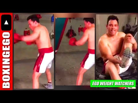 WHOA WHOA! JULIO CESAR CHAVEZ JR LOOKS MASSIVE IN LATEST TRAINING VID | WHAT WEIGHT? (EWW)