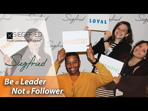 At Siegfried Youth Leadership Program event, students find inspiration and begin to develop the leadership qualities they need for a successful future.