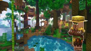 Jungle Treehouse Village in Minecraft!? | Build Timelapse