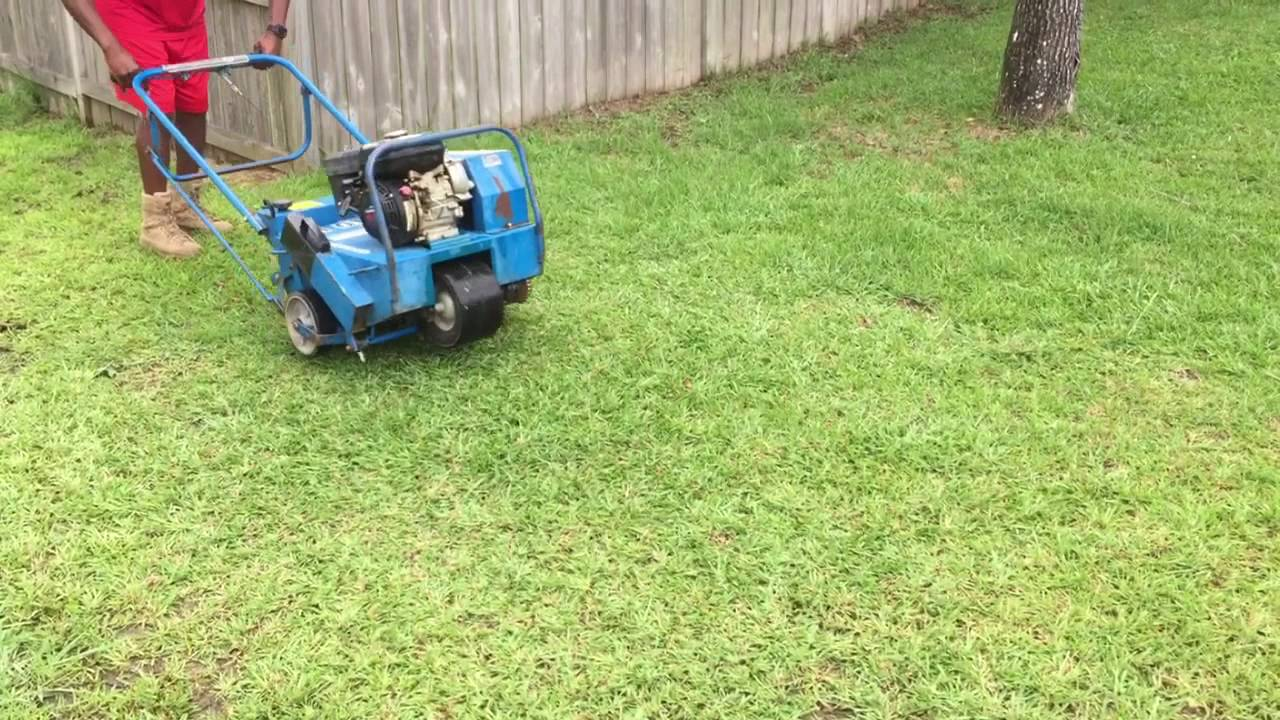 Grass Aerator Bluebird 530 Lawn Aerator Demonstration And Information