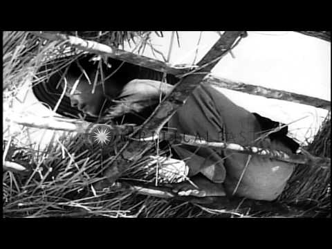French troops fire artillery during the Indochina War and activities of North and...HD Stock Footage