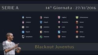 SERIE A TIM - 14^ GIORNATA - 27/11/2016 • Blackout Juventus • Live Streaming