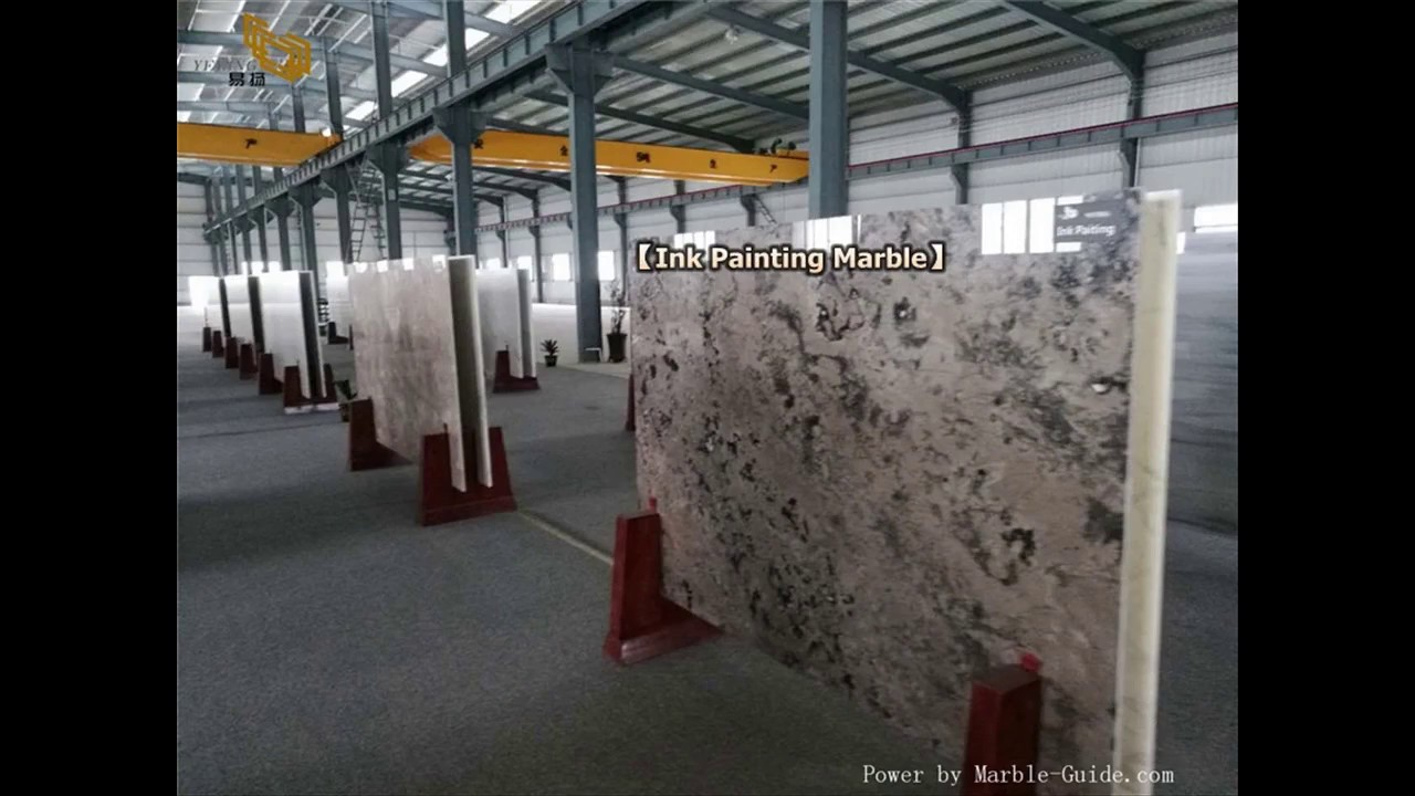 how to find ink painting marble slabs for hotel interior design?_