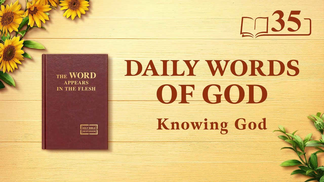 """Daily Words of God   """"God's Work, God's Disposition, and God Himself II""""   Excerpt 35"""