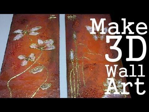 Make 3d Wall Art Youtube