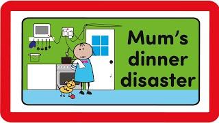 The Byrnes Family - Mum's dinner disaster