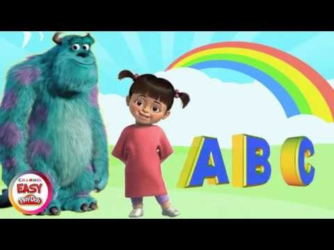 Learn the Alphabet ABC with Monsters inc. BOO - A B C D E F G H I J K L M N O P Q R S T U V W X YZ
