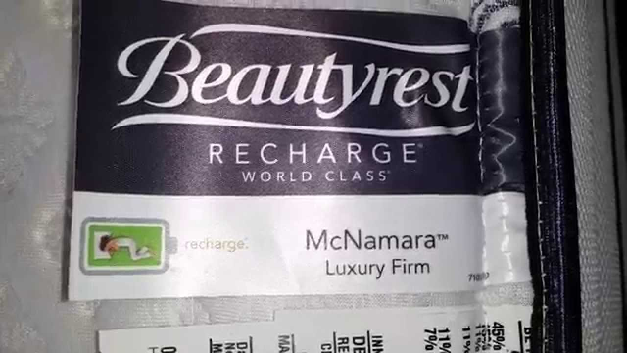 Beautyrest Recharge World Class Mcnamara Luxury Firm King