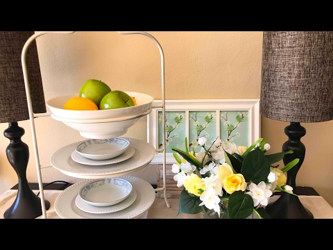 Spring Dining Room Decor || Sideboard