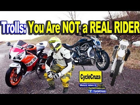 Trolls: CycleCruza is Not A REAL RIDER! Oh REALLY??  | MotoVlog