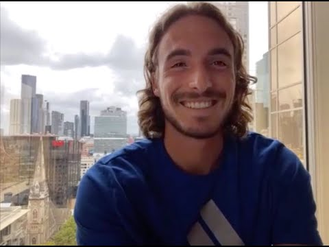 Tsitsipas about not washing his hair. VIDEO