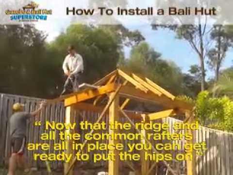 How to install Bali Hut start to finished