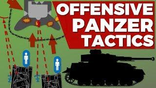 German Panzer Tactics WW2 - Attack