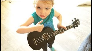 vlog детсад дома, укулеле, покупки еды, уборка  - Senya Miro