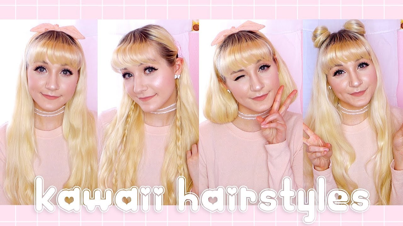 Simple Kawaii Hairstyles Back To School Youtube
