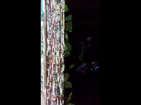 Kurtinang di Nilalabhan Paano Gumawa (How to Make Paper Curtains  from Recycled magazine