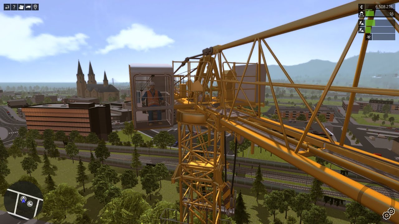 Tower Crane Vs Mobile Crane : Construction simulator liebherr ec b tower
