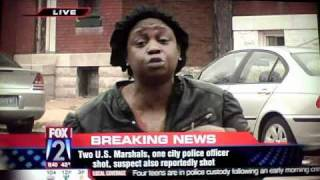 3 U.S. MARSHALS SHOT 1 MARSHALL DEAD IN SOUTH ST. LOUIS,MO. THE MURDER CAPITOL.**UNCENSORED**